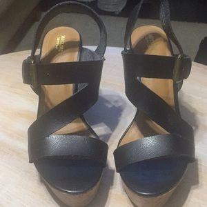 Mossimo Black Wedge Sandals
